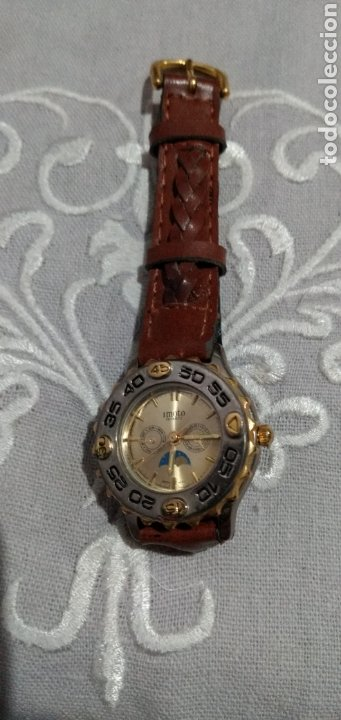 Relojes de pie: RELOJ ( MIYOTA MOVT. I. MOTO QUARTZ , CORREA DE PIEL , FUNCIONANDO ). - Foto 2 - 182711906