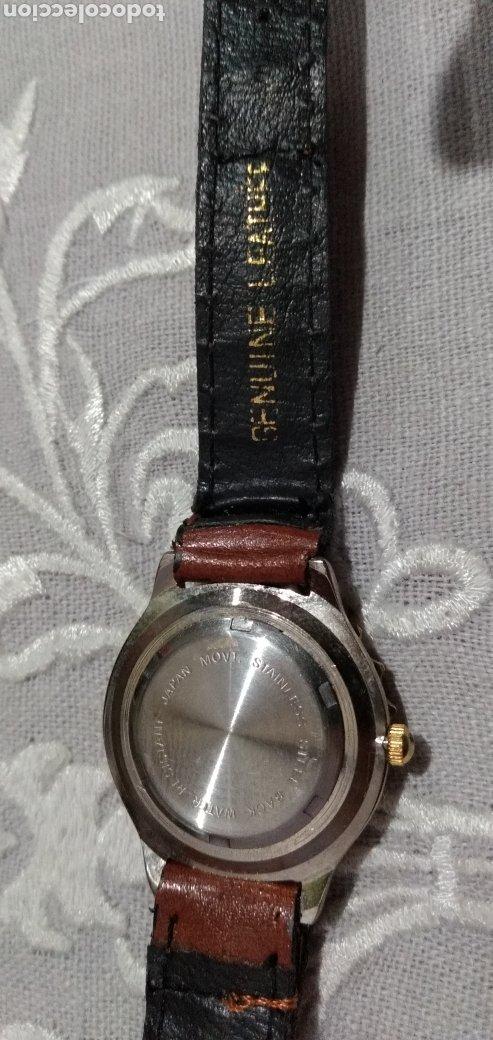 Relojes de pie: RELOJ ( MIYOTA MOVT. I. MOTO QUARTZ , CORREA DE PIEL , FUNCIONANDO ). - Foto 5 - 182711906