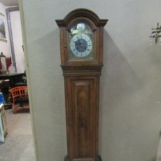 Relojes de pie: RELOJ DE PIE - TEMPUS FUGIT - MARCA ROMAN - MADERA DE NOGAL - FUNCIONA - 172 CM ALTURA. Lote 182945946