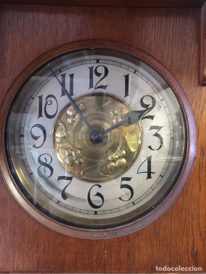 Relojes de pie: GRAN RELOJ MODERNISTA PRINCIPIOS SIGLO ROBLE MACIZO - Foto 4 - 185711956