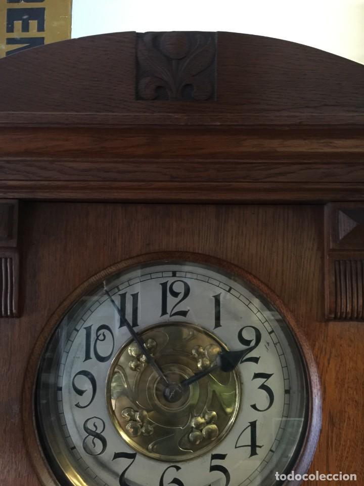 Relojes de pie: GRAN RELOJ MODERNISTA PRINCIPIOS SIGLO ROBLE MACIZO - Foto 5 - 185711956