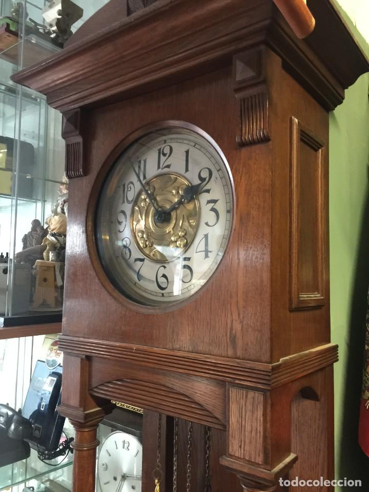 Relojes de pie: GRAN RELOJ MODERNISTA PRINCIPIOS SIGLO ROBLE MACIZO - Foto 6 - 185711956