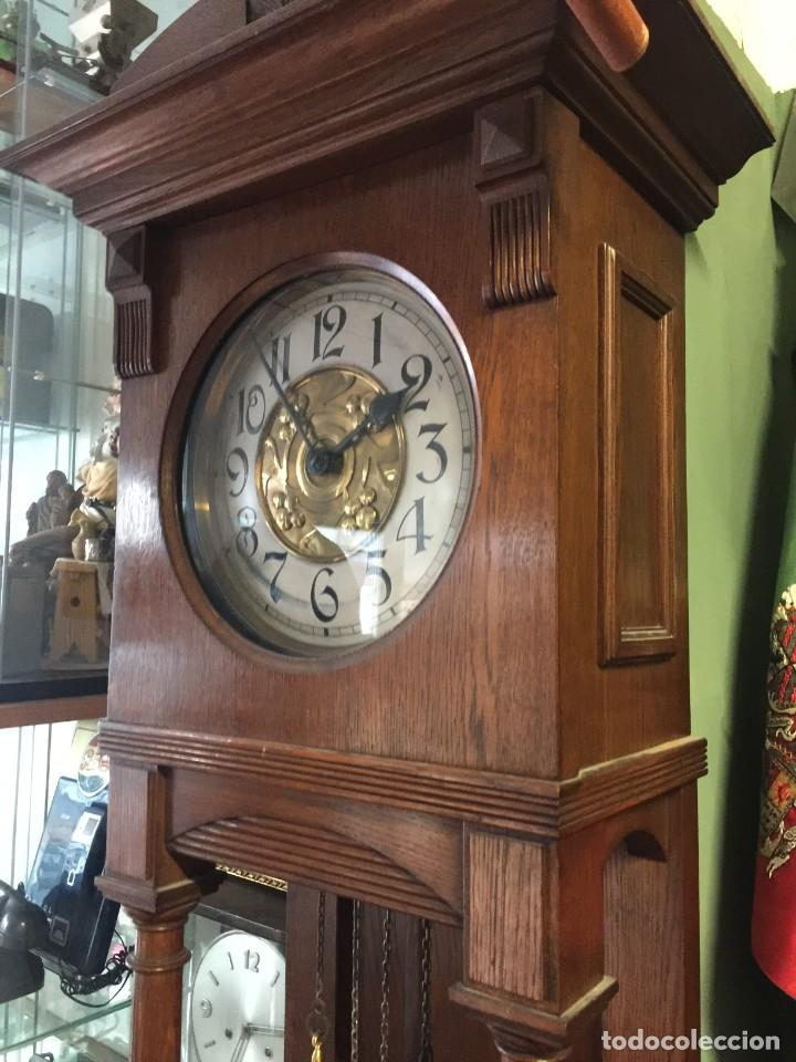 Relojes de pie: GRAN RELOJ MODERNISTA PRINCIPIOS SIGLO ROBLE MACIZO - Foto 7 - 185711956