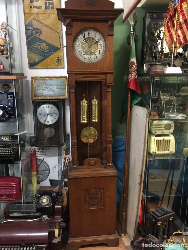 Relojes de pie: GRAN RELOJ MODERNISTA PRINCIPIOS SIGLO ROBLE MACIZO - Foto 10 - 185711956