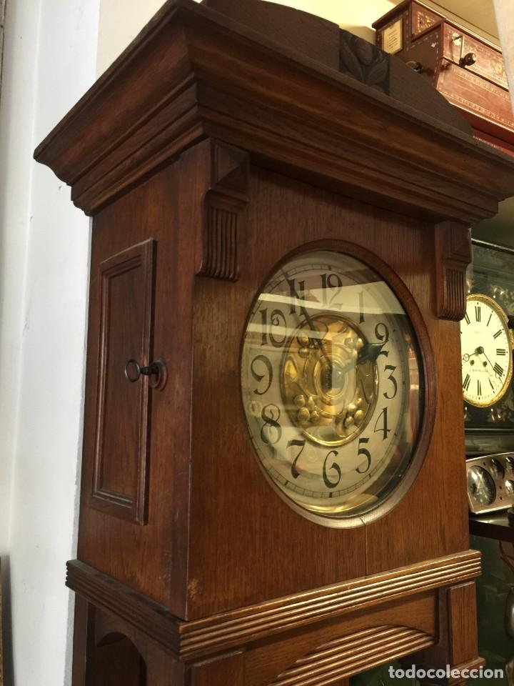 Relojes de pie: GRAN RELOJ MODERNISTA PRINCIPIOS SIGLO ROBLE MACIZO - Foto 11 - 185711956