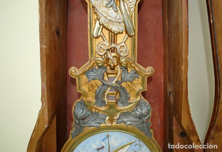 Relojes de pie: RELOJ ANTIGUO DE PIE TIPO MOREZ CAJA DE MADERA Y MARQUETERÍA - Foto 10 - 185770253