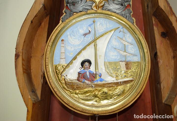 Relojes de pie: RELOJ ANTIGUO DE PIE TIPO MOREZ CAJA DE MADERA Y MARQUETERÍA - Foto 11 - 185770253