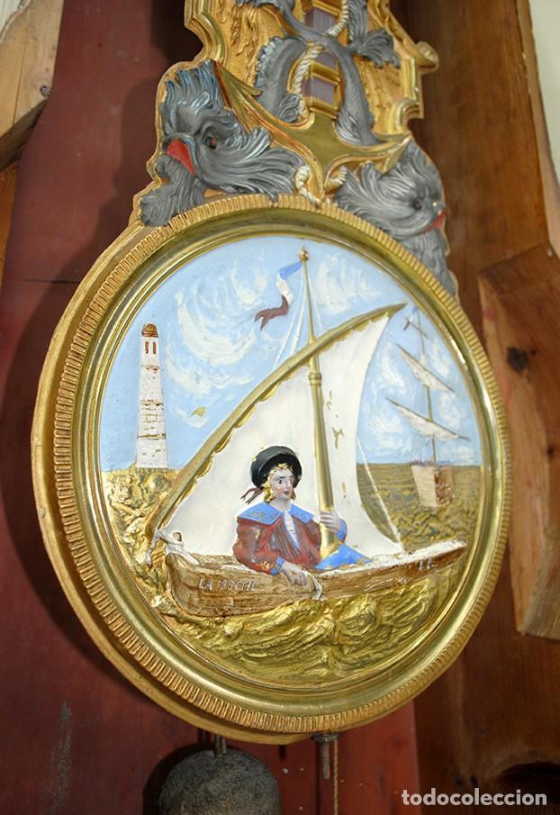 Relojes de pie: RELOJ ANTIGUO DE PIE TIPO MOREZ CAJA DE MADERA Y MARQUETERÍA - Foto 12 - 185770253