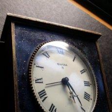 Relojes de pie: ANTIGUO RELOJ DESPERTADOR SWIZA 8 DIAS ESMALTADO, EN PERFECTO ESTADO RELOJ SUIZO. Lote 186127815
