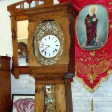 Relojes de pie: RELOJ MOREZ, CON CAJA MADERA, PERFECTO ESTADO, FUNCIONA, SONERIA Y HORAS, 2,32 ALTURA. Lote 186147912