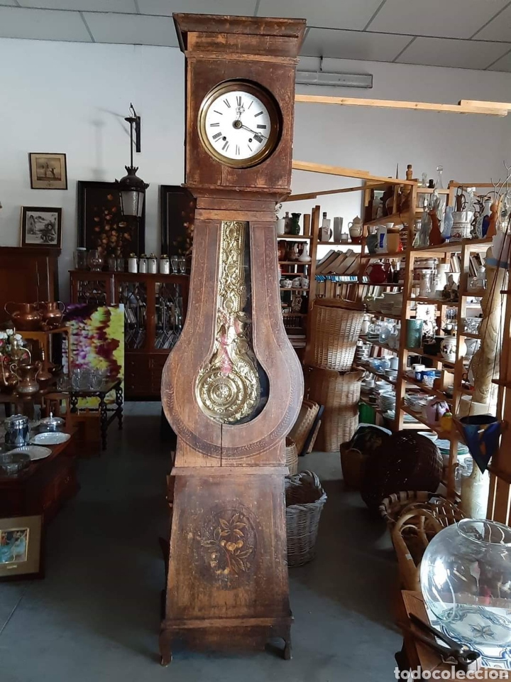 RELOJ MORET CON CAJA PENDULO REAL FUNCIONANDO (Relojes - Pie Carga Manual)