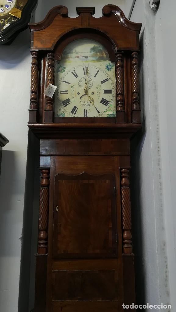 RELOJ DE ANTESALA GRANDFATHER INGLES, HOLYHEAD SIGLO XIX (Relojes - Pie Carga Manual)