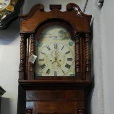 Relojes de pie: RELOJ DE ANTESALA GRANDFATHER INGLES, HOLYHEAD SIGLO XIX. Lote 189267598