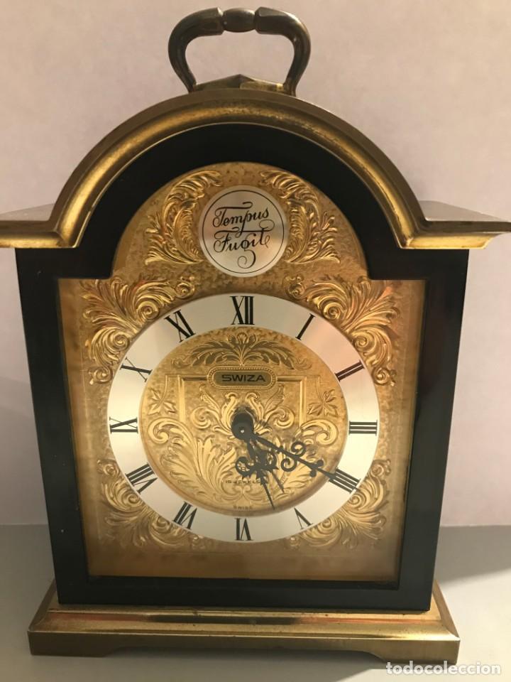 RELOJ MESA TEMPUS FUGIT SUIZA (Relojes - Pie Carga Manual)