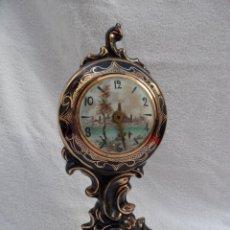 Relojes de pie: VIEJO RELOJ DE SOBREMESA DE PORCELANA..ALEMANIA,,,PARA RESTAURAR...BUEN ESTADO..VER FOTOS..LEER.. Lote 191412170