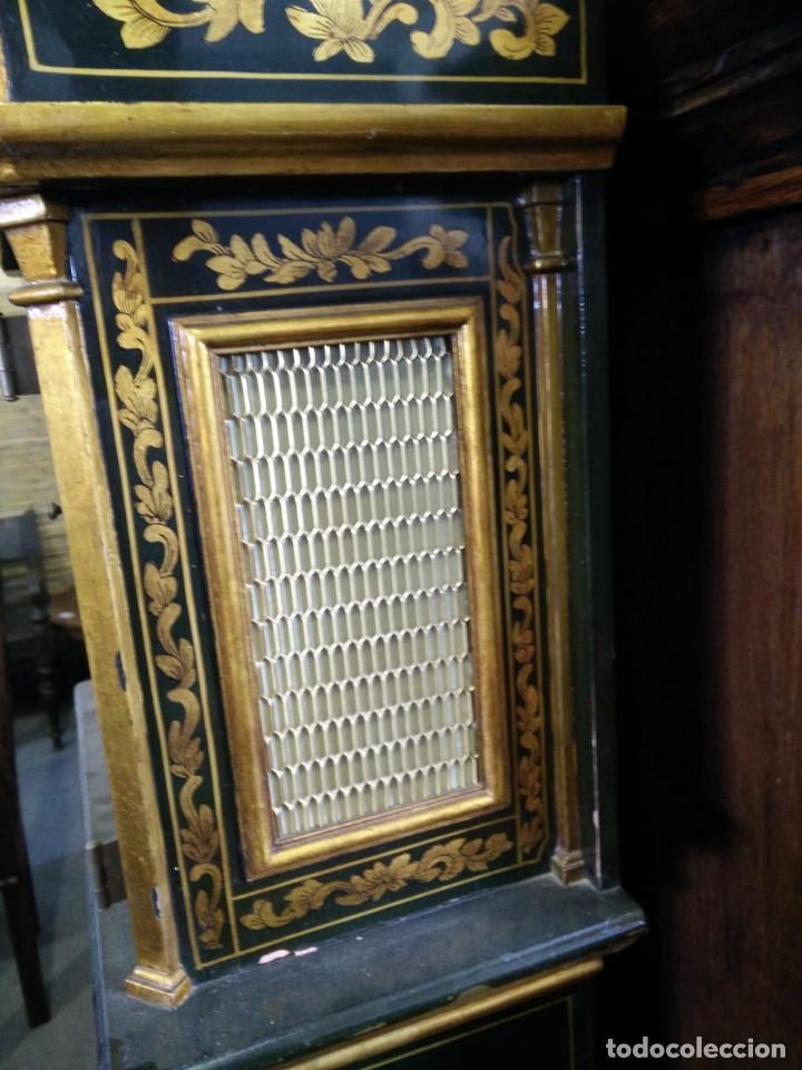 Relojes de pie: Magnifico reloj de pie Tempus Fugit Bell. Lacado. En marcha. Sonería. - Foto 4 - 160854738