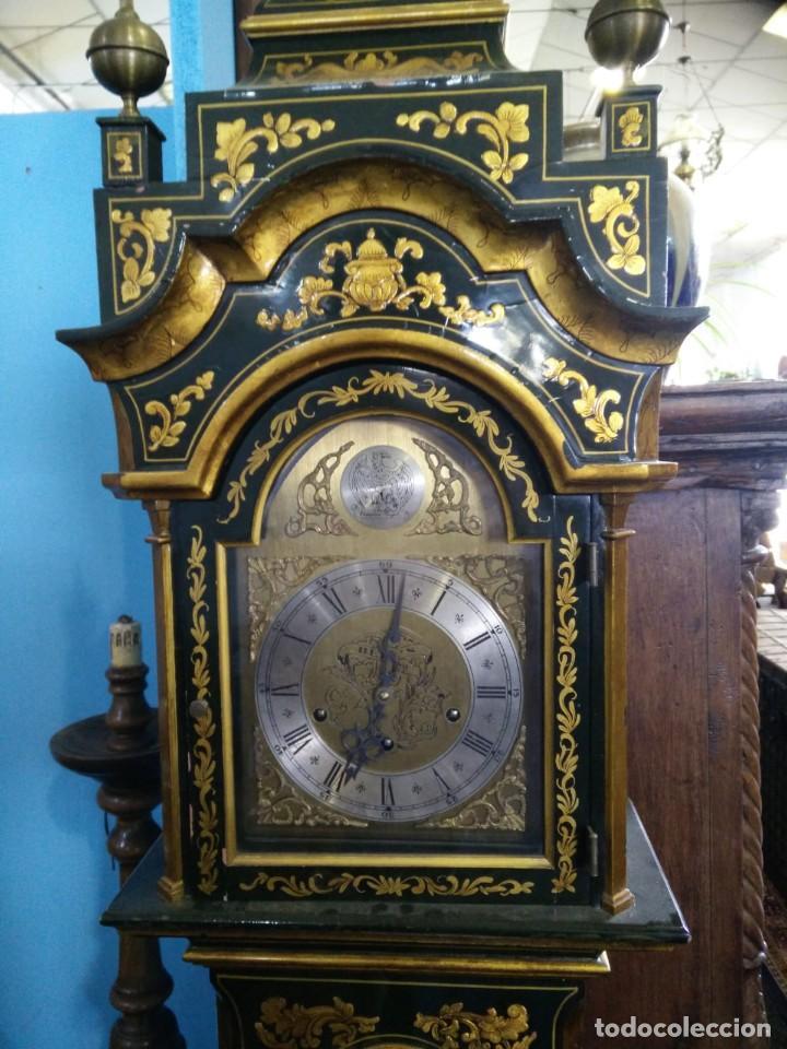 Relojes de pie: Magnifico reloj de pie Tempus Fugit Bell. Lacado. En marcha. Sonería. - Foto 6 - 160854738
