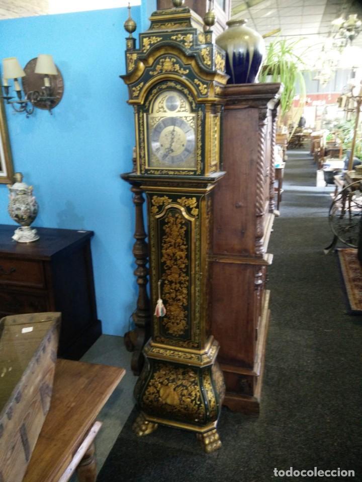 Relojes de pie: Magnifico reloj de pie Tempus Fugit Bell. Lacado. En marcha. Sonería. - Foto 8 - 160854738