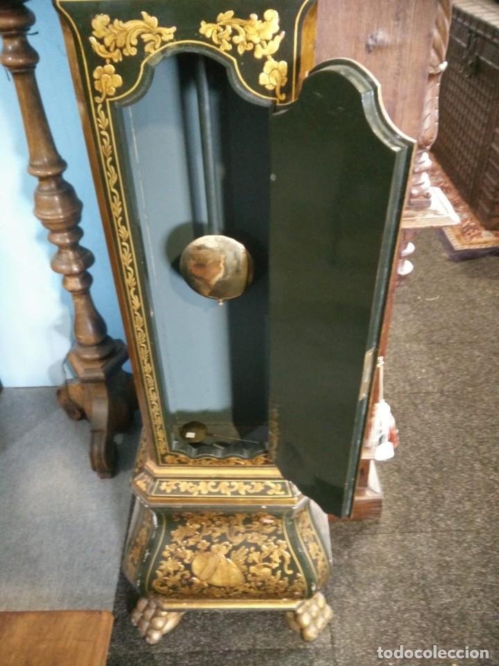 Relojes de pie: Magnifico reloj de pie Tempus Fugit Bell. Lacado. En marcha. Sonería. - Foto 9 - 160854738