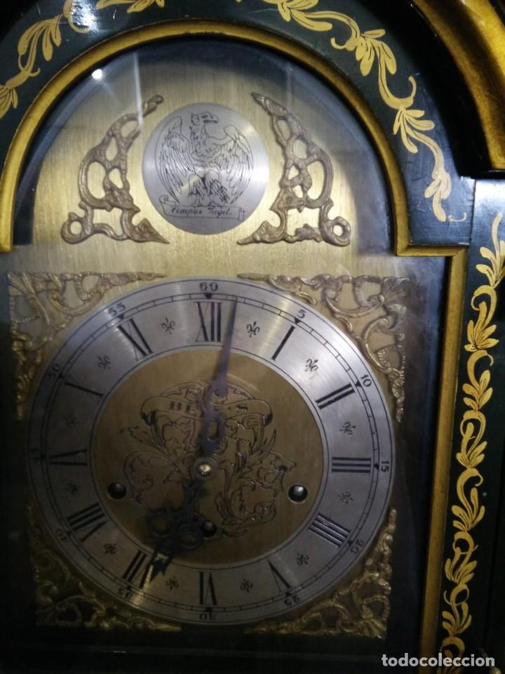 Relojes de pie: Magnifico reloj de pie Tempus Fugit Bell. Lacado. En marcha. Sonería. - Foto 11 - 160854738