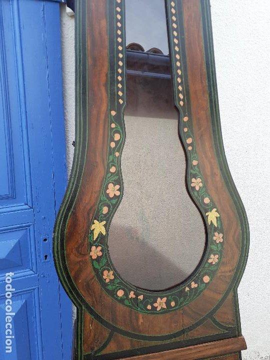 Relojes de pie: Caja de reloj Morez del XIX con escena campestre - Foto 3 - 194145632