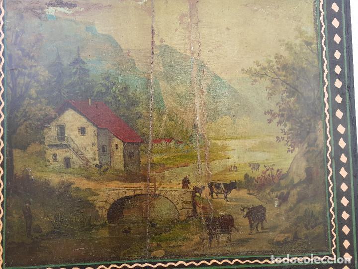 Relojes de pie: Caja de reloj Morez del XIX con escena campestre - Foto 5 - 194145632