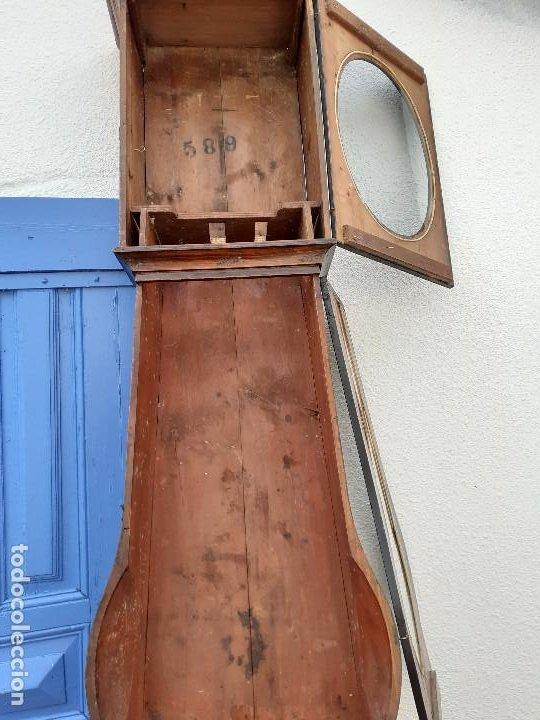 Relojes de pie: Caja de reloj Morez del XIX con escena campestre - Foto 8 - 194145632