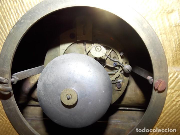 Relojes de pie: ANTIGUO PIE RELOJ CON ESCULTURA DE BRONCE - Foto 9 - 194173420