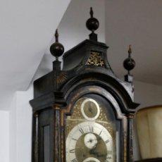 Relojes de pie: RELOJ INGLÉS DE UNA CAMPANA CON MOTIVOS ORIENTALES, FINALES DEL SIGLO XIX.. Lote 195081880