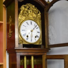 Relojes de pie: MOREZ , RELOJ CON CAJA MADERA. Lote 195219222