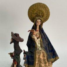 Orologi a pendolo: SAGRADA FAMILIA EN PAPEL MACHE. AMERICA DEL SUR. S.XX.. Lote 195853693