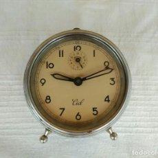 Relojes de pie: ANTIGUO RELOJ DESPERTADOR DE CUERDA AÑOS 50, MARCA CID. Lote 196052530