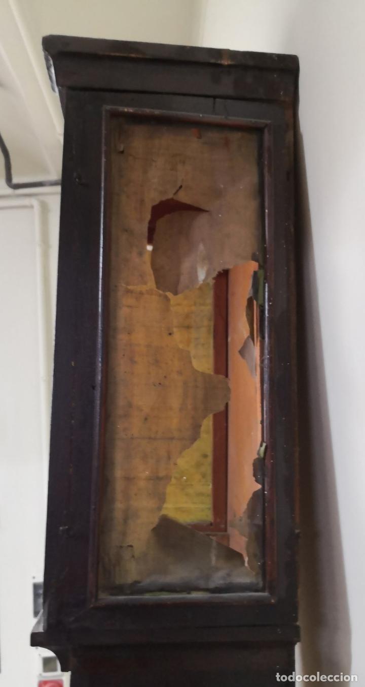 Relojes de pie: ESTRUCTURA DE RELOJ DE PIE. MADERA POLICROMADA. ESPAÑA. SIGLO XIX. - Foto 13 - 197312920
