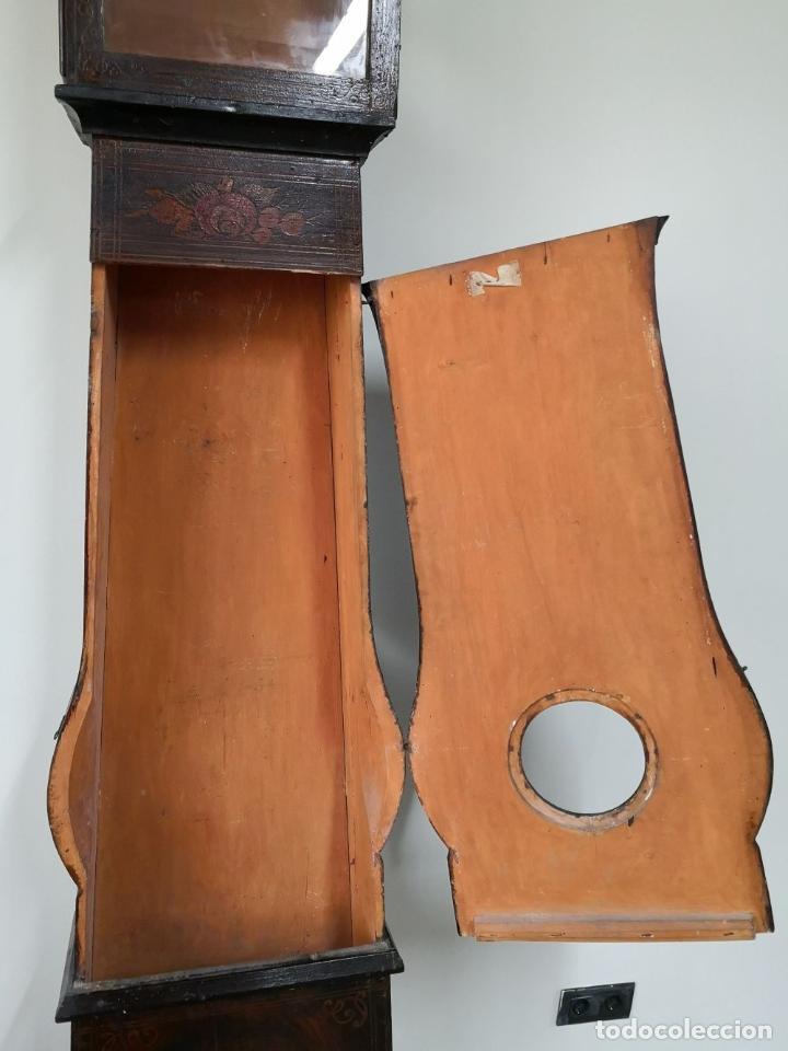 Relojes de pie: ESTRUCTURA DE RELOJ DE PIE. MADERA POLICROMADA. ESPAÑA. SIGLO XIX. - Foto 16 - 197312920