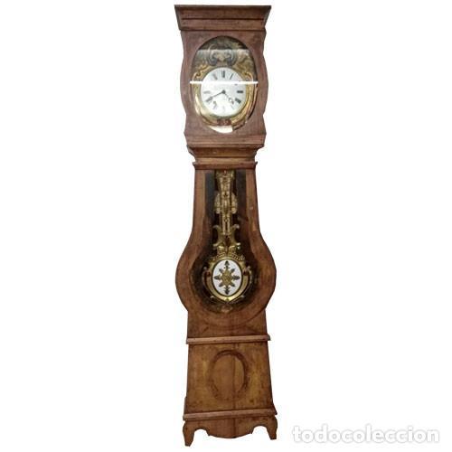 RELOJ DE PIE CON CAJA,MOREZ,MORET,PENDULO REAL. (Relojes - Pie Carga Manual)