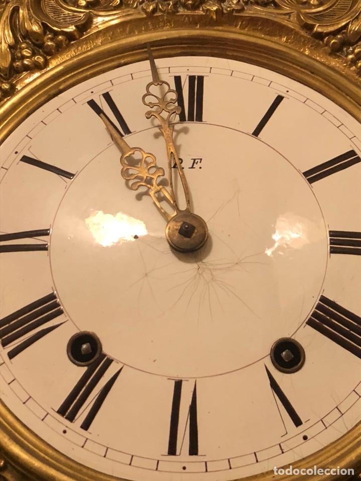Relojes de pie: Reloj morez antiguo, siglo XIX sólo recogida - Foto 13 - 203951810