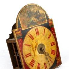 Relojes de pie: RELOJ TIPO RATERA DE DOS CAMPANAS. SIGLO XIX. SIN PESAS NI PÉNDULO.. Lote 204762090