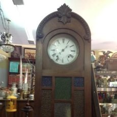 Relojes de pie: RELOJ DE PIE. MORETZ. . MADERA CASTAÑO . ART DECO.CRISTALES DE ROCA ORIGINALES..PIEZA RARA. Lote 207465601