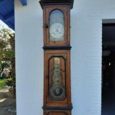 Relojes de pie: RELOJ MOREZ MEDIDADOS DEL XIX; 2 METROS Y MEDIO, ESFERA EN ALABASTRO, SONERÍA DE CAMPANA Y GONG. Lote 209793165