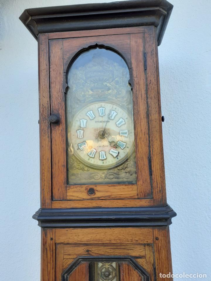 Relojes de pie: Reloj Morez medidados del XIX; 2 metros y medio, esfera en alabastro, sonería de campana y gong - Foto 2 - 209793165