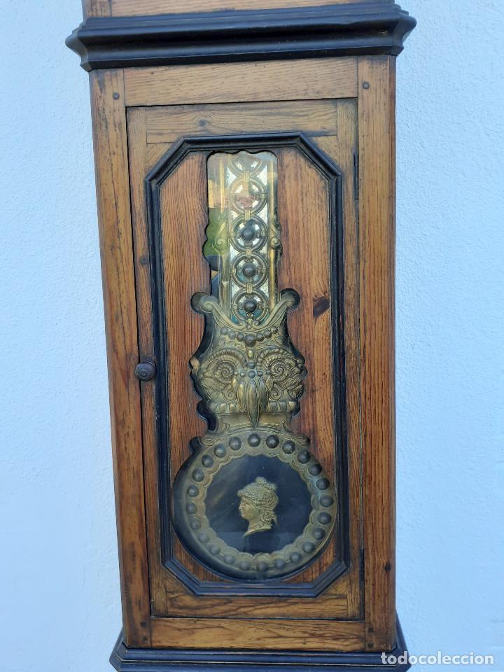 Relojes de pie: Reloj Morez medidados del XIX; 2 metros y medio, esfera en alabastro, sonería de campana y gong - Foto 3 - 209793165