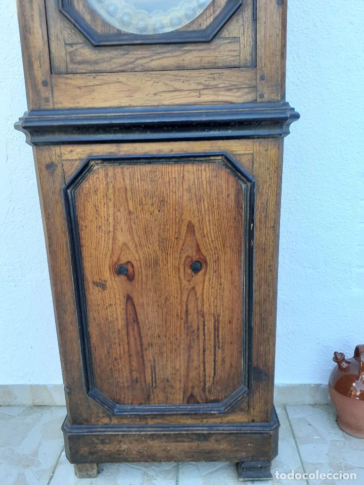 Relojes de pie: Reloj Morez medidados del XIX; 2 metros y medio, esfera en alabastro, sonería de campana y gong - Foto 4 - 209793165