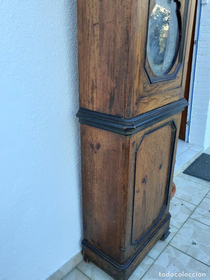 Relojes de pie: Reloj Morez medidados del XIX; 2 metros y medio, esfera en alabastro, sonería de campana y gong - Foto 8 - 209793165