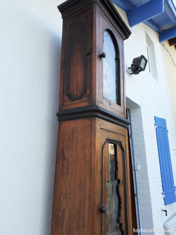 Relojes de pie: Reloj Morez medidados del XIX; 2 metros y medio, esfera en alabastro, sonería de campana y gong - Foto 9 - 209793165