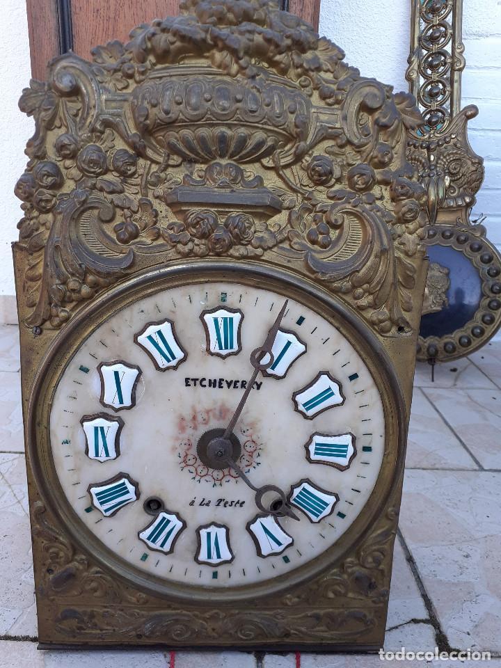Relojes de pie: Reloj Morez medidados del XIX; 2 metros y medio, esfera en alabastro, sonería de campana y gong - Foto 10 - 209793165