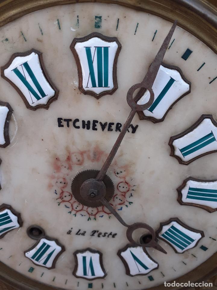 Relojes de pie: Reloj Morez medidados del XIX; 2 metros y medio, esfera en alabastro, sonería de campana y gong - Foto 11 - 209793165