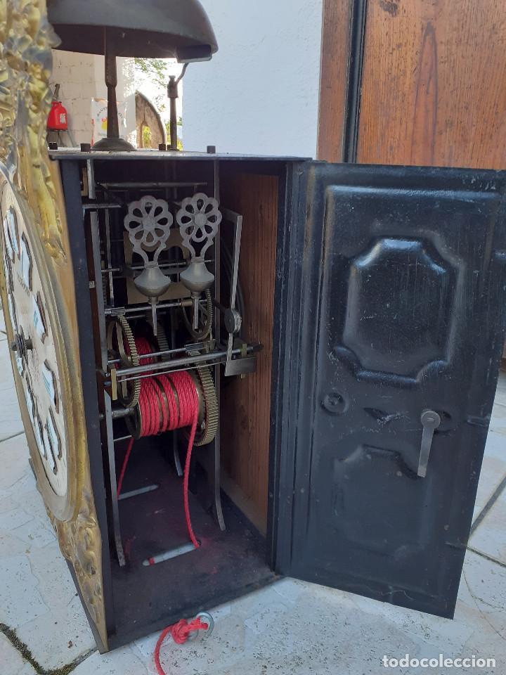 Relojes de pie: Reloj Morez medidados del XIX; 2 metros y medio, esfera en alabastro, sonería de campana y gong - Foto 12 - 209793165