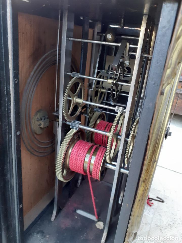 Relojes de pie: Reloj Morez medidados del XIX; 2 metros y medio, esfera en alabastro, sonería de campana y gong - Foto 13 - 209793165