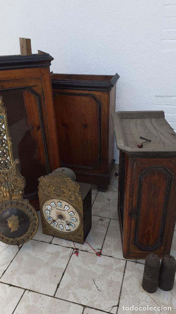 Relojes de pie: Reloj Morez medidados del XIX; 2 metros y medio, esfera en alabastro, sonería de campana y gong - Foto 17 - 209793165
