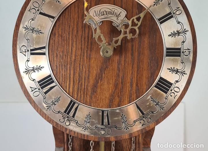 Relojes de pie: GRANDFATHER. RELOJ DE CARRILLÓN. WARMINK. INGLATERRA. CIRCA 1950. - Foto 3 - 209998818